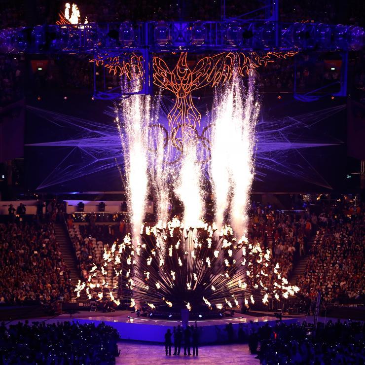 Flamme olympique cérémonie