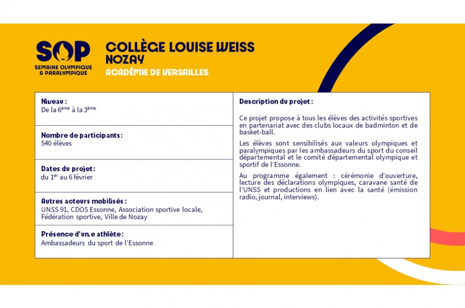 Collège Louise Weiss - Nozay