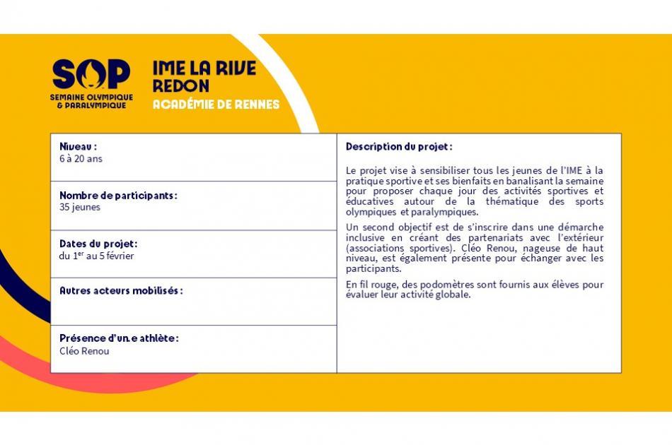 IME La Rive - Redon