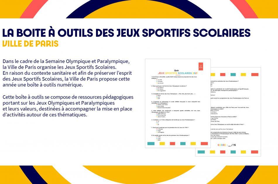 Boite à outils Jeux Sportifs Scolaires