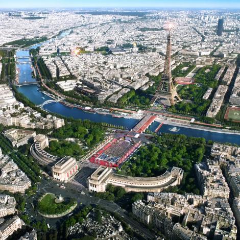 Ambition 2024 : épreuves au Trocadéro et sur le Champ-de-Mars