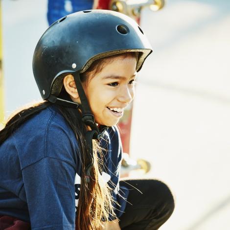 Jeune skateuse